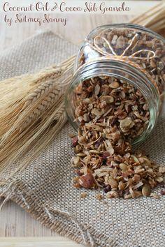 Coconut Oil & Cocoa Nib Granola from Nutmeg Nanny