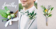 No More Girly Flowers! 20 Refreshing Boutonnieres Both You and Your Groom Will Love! Wedding Dresses, Prom Dresses, Floral Arrangements, Boutonnieres, Cheongsam, Groom, Girly, Bump, Table Decorations