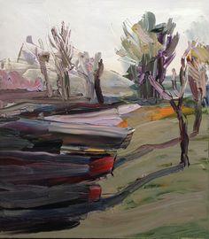 © Guy Maestri ~ The end ~ 2013 oil on linen at Olsen Irwin Gallery Sydney Australia Landscape Artwork, Landscape Drawings, Contemporary Landscape, Abstract Landscape, Contemporary Artists, Abstract Art, National Art School, Large Artwork, Bachelor Of Fine Arts