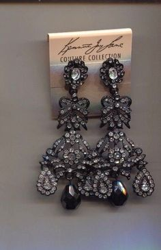 KENNETH LANE HUGE BLACK floral bow earrings | Jewelry & Watches, Fashion Jewelry, Other Fashion Jewelry | eBay! Bow Earrings, Black Crystals, Eat Cake, Jewelry Watches, Fashion Jewelry, Bows, Jewels, Floral, Ebay