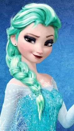 Punk Disney: Elsa with Snowflakes in her hair. Disney Princess Fashion, Disney Princess Pictures, Disney Princess Drawings, Princess Cartoon, Disney Drawings, Princesa Disney Frozen, Disney Princess Frozen, Elsa Frozen, Frozen Movie