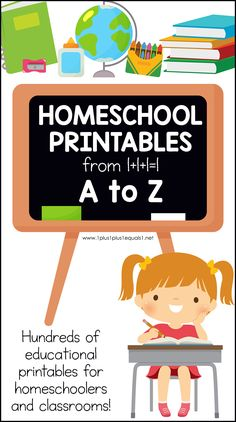 Hundreds of homeschool printables from 1+1+1=1 listed in one post alphabetically! #1plus1plus1 #homeschool #homeschoolprintables Kids Learning Activities, Teaching Resources, Preschool At Home, Preschool Printables, Tot School, Kindergarten, Homeschooling, School Themes, Early Learning