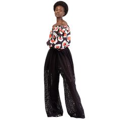Off the shoulders crop top Ballon sleeves Polyester Africa Fashion, Off The Shoulder, Harem Pants, Summer Outfits, Creations, Crop Tops, Sleeves, Style, Design