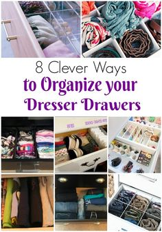 New kids room organization diy dresser drawers ideas Clothes Drawer Organization, Closet Organisation, Bedroom Organization Diy, Organization Ideas, Organizing Drawers, Trailer Organization, Clothes Storage, Organizing Tips, Organising