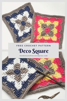 Transcendent Crochet a Solid Granny Square Ideas. Inconceivable Crochet a Solid Granny Square Ideas. Granny Square Crochet Pattern, Crochet Blocks, Crochet Squares, Crochet Granny, Crochet Motif, Crochet Yarn, Crochet Stitches, Free Crochet, Mandala Crochet