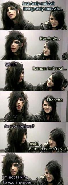 omg cant stop laughing  Andy Biersack and Ashley Purdy