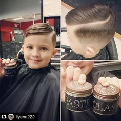 slick haircut with a quiff (little one)