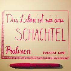 Tag 8 der #letterattackchallenge von @frauhoelle Das Leben ist wie eine Schachtel Pralinen.  Forrest Gump
