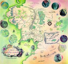 High Resolution Map Of Middle Earth From THE HOBBIT And LORD OF RINGS