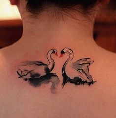 Swan by Chen Jie #ink #tattoo