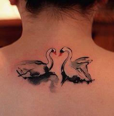 Swan by Chen Jie #ink #tattoo