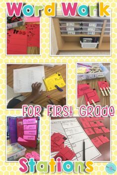 """This easy-to-set up and effective to manage word work station provides students with a strong structure and fun """"hands-on"""" activities to practice spelling patterns. Kindergarten and 1st grade students will enjoy the sorting, building, and matching word work activities in this resource."""