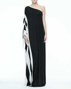 Azur One-Shoulder Maxi Dress by Rachel Zoe at Bergdorf Goodman.
