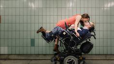 Wheelchair engagement photo - Beautiful Couple! >>> See it. Believe it. Do it. Watch thousands of SCI videos at SPINALpedia.com