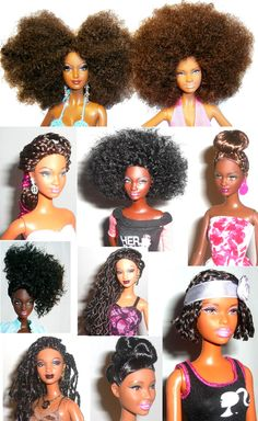 Barbie never looked so natural.  If only I had this selection of natural hair dolls when I was a little girl; LOVE!!!