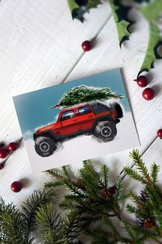 Excited to share this item from my shop: Jeep Wrangler 4 Door JK Christmas tree 4 Door Jeep Wrangler, Jeep Jk, Jeep Gifts, Florence Art, Christmas Cards, Christmas Tree, Cards For Boyfriend, Handmade Items, Handmade Gifts