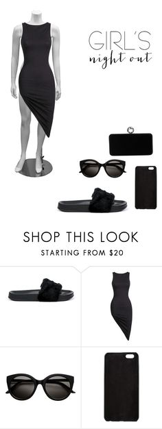 """""""Girls Night Out🖤"""" by ciarabieber ❤ liked on Polyvore featuring Puma, Fendi and Swarovski"""