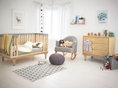Limited Edition range of nursery furniture designed by Bunny & Clyde for Mamas & Papas