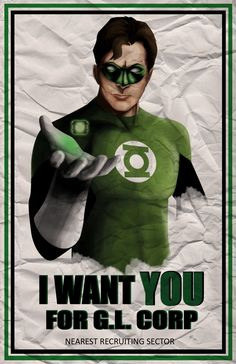 Green Lantern Poster - waitedesigns
