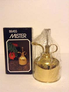 New Vintage Open Box 10 Oz Brass Plant Mister Water Sprayer House Plants Garden #Unbranded