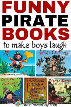 Super funny pirate books! 9 titles that your boys are guaranteed to make them laugh out loud.