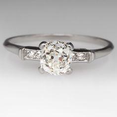 1.10 Carat Old Miner Diamond 1920's Ring
