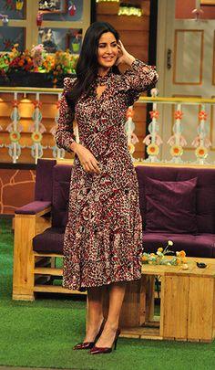 Katrina Kaif in a Saint Laurent dress.