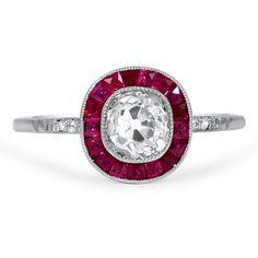 Art Deco Diamond Vintage Ring | Buena | Brilliant Earth