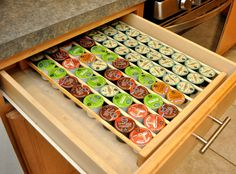 Keurig K-CUP STORAGE ORGANIZSER Insetrt Holds by thewoodcraftsite                                                                                                                                                                                 More