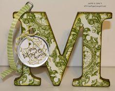 DIY Letter Ornaments