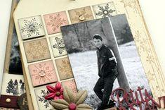 """Mini album """"Une famille en hiver"""" ... - Le Scrap de Patmiaou Mini Album Scrapbook, Mini Albums Scrap, Scrapbooking, Projects To Try, Gallery Wall, Mini Mini, Frame, Boxes, Scrapbook Albums"""