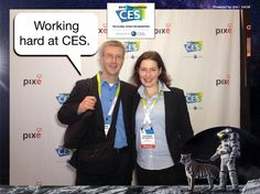 Working hard at CES. #CES2015 #PixeSocial