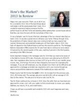 Rolla, MO 2013 Market Review - 2014 Market News #PhelpsCounty #Rolla #StJames #Homes #realestate
