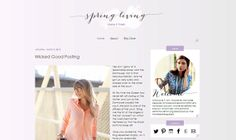 Premade Blogger Template Spring Living by carrielovesdesign, $35.00