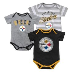 Picture of Pittsburgh Steelers Infant Newborn Field Goal Bodysuit Set  Steelers Baby Clothes 2ec831633