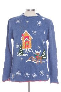 Blue Ugly Christmas Pullover 30278
