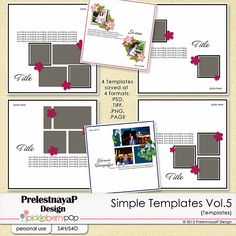 Simple templates Vol.5 by PrelestnayaP Design