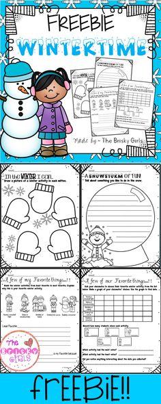 Free, Winter Printables, Winter Activities, Winter Resources