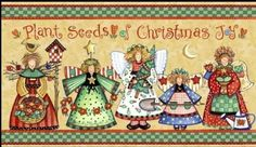 Beautiful Christmas angels with good advice. (Anyone know who the artist is?