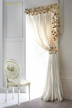 29 ideas bathroom window voile catalog for 2019 Rose Curtains, Diy Curtains, Valance, Gold Bedroom Decor, Living Room Decor, Cortinas Shabby Chic, Room Partition Designs, Home Office Chairs, Shabby Chic Kitchen