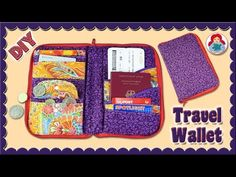 DIY | Zip Around Travel Wallet/ Travel Document Organizer • Sami Dolls Tutorials - YouTube Makeup Bag Tutorials, Diy Makeup Bag, Diy Makeup Storage, Paper Organization, Travel Organization, Diy Travel Wallets, Diy Bag Organiser, Travel Document Organizer, Diy Wallet