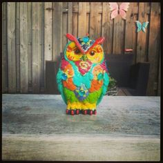 My owl statue painted it it,s a real soulsparkles
