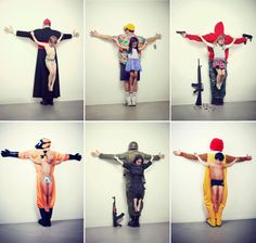 """Erik Ravelo, Los Intocables(The Untouchables), 2013 """"The first image refers to pedophilia in the Vatican. Second child sexual abuse in tourism in Thailand, and the third refers to the war in Syria. The fourth image refers to the trafficking of organs on the black market, where most of the victims are children from poor countries; fifth refers to weapons free in the U.S.. And finally, the sixth image refers to obesity, blaming the big fast food companies."""" #art #controversial"""