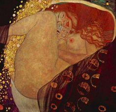 구스타프 클림트(Gustav Klimt)의 다나에(Danae) / 1907-1908 다나에는 아크리시오스의 딸이다. 아크리시오스가 외손자에 의해 죽임을 당하게 될 것이라는 신탁 때문에, 아크리시오스는 자신의 딸을 청동 밀실에 가둔다. 딸과 남자들의 접촉을 원천 봉쇄하여 외손자가 태어나지 않게 하기 위해서이다. 하지만 제우스는 황금비로 변신하여 밀실로 스며들고 다나에의 무릎 사이로 스며든다. 그리고 이들의 사랑으로 영웅 페르세우스가 태어나고, 먼 훗날 체육 경기를 관람하던 아크리시오스는 그 경기에 참가한 페르세우스의 원반에 맞아 죽게 된다.