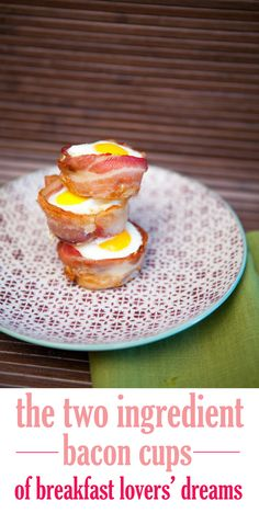Bacon cups are a real thing. And they are the perfect quick breakfast food. You can just pop them in your mouth and get started on your day! Plus you'll get some protein from those eggs. Yummm. #breakfast #bacon #easy