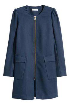 Manteau en tissu texturé