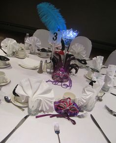 masquerade centerpiece; design by Davis Floral Creations