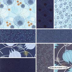 Moda Fabrics - True Blue - Fabric Pack in Blue