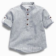 """Best 12 Department Name: Children Item Type: Tops Tops Type: Tees Collar: Mandarin Collar Gender: Boys Pattern Type: Striped Fit: Fits true to size, take your normal size Model Number: Style: """"European and American Style Material: Cotton Sleeve Length Kids Clothes Storage, Cheap Kids Clothes, Baby Boy Shirts, Boys T Shirts, Baby Boys, Teen Boys, Baby Boy Dress, Baby Boy Outfits, Outfits Niños"""