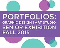 "Graduating seniors from Coastal Carolina University's Department of Visual Arts Graphic Design and Studio Art will present their thesis exhibition ""Portfolios"" Dec. 4 to 12 in the Rebecca Randall Bryan Art Gallery in the Thomas W. and Robin W. Edwards College of Humanities and Fine Arts. An opening reception will be held in the gallery from 4:30 to 6:30 p.m. on Friday, Dec. 11."